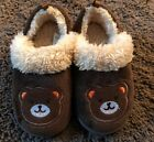 Baby Boys Girls Toddler Slippers Size 7 8 Bears Brown Shoes Medium Kids NEW