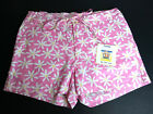 Totem Swim Shorts Beach Board Shorts Womens Size S Pink White Floral