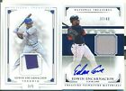 2017 National Treasures Edwin Encarnacion Auto Jersey 49 & 2016 gold patch 3 5