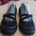 PRIVO BY CLARKS Womens Ladies Mary Jane Shoes 7M Black With White Stitching