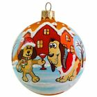 325 Dog Friendship Celebration Glass Ball Christmas Ornament