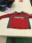 ADIDAS Infant Boy Top Shirt Logo Red and Gray 12 months