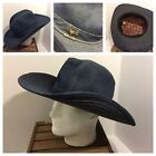 Vintage Blue Jean Cowboy Hat Made In USA Extra Large XL