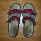 NAOT Sandals Womens US 8 EU 39 Red Leather adjustable strap slides