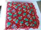 Handmade Christmas Fabric Lace Covered Photo Album Big 3 Ring Binder Sparkly