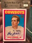 Roger Staubach 2015 Topps 60th Anniversary Rookie Reprint Auto bgs 9 10