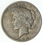 Over 90 Years Old 1922 Peace Silver Dollar 90 Silver 178