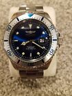 Invicta Pro Diver Master Of The Oceans Coin Edged Bezel Royal Blue Dial SS Watch