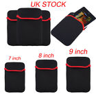 7 8 9 inch Soft Neoprene Sleeve Pouch Bag Case Cover For Tablet Laptop PC