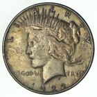 Over 90 Years Old 1922 Peace Silver Dollar 90 Silver 182
