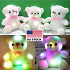 US LED Light Teddy Bear Kids Stuffed Plush Toys Lovely Baby Dolls Xmas Gift 20cm