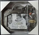 Fetco Picture Frame Travel Memories Hanging Charms holds 5 x 35 Pewter Photo
