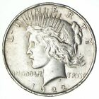 Over 90 Years Old 1922 Peace Silver Dollar 90 Silver 184