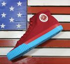 PF Flyers Center Hi Casual Shoes Red Blue Canvas PM12OH1V Mens 9 Womens 105