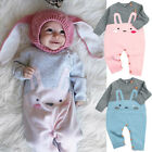 Adorable Baby Girls Boy Bunny Romper Sweater Jumpsuit Playsuit Outfits US Stock