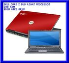 Cheap dell RED laptop Windows 7 DVD Core 2 Duo 40Ghz proc 2GB 80GB HDD wifi