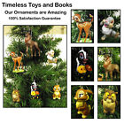 Disney Bambi Christmas Ornament 6 Piece Set Thumper, Flower, Miss Bunny, Owl.