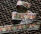 Salvage Remnants of  Old Chinese Silk Brocade Trim, Edging Insert, 33