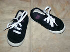 Faded Glory Toddler Athletic Canvas Shoe Size 7 Black