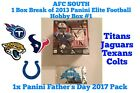 1x Panini Father's Day Pack - AFC South 1 Hobby Box Break 2013 Elite Football #1