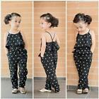 Kids Girls Love Heart Straps Rompers Jumpsuits Piece Pants Clothing Skeeveless