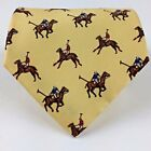 Lauren Ralph Lauren Mens Wide Silk Tie Polo Players Yellow Brown Red Blue 55 L