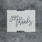 Give Thanks Stencil Reusable Stencils of Give Thanks Sign