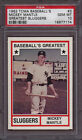 1982 Tcma Baseball's Greatest Sluggers 3 Mickey Mantle PSA 10 Gem Mint