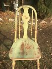 Vintage 1920s Wood High Youth Chair Kitchen Stool Country Cottage Farm House