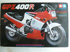 Tamiya Kawasaki GPZ 400R motorcycle model kit, 1/12 scale, with extra wheels