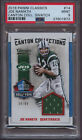2016 Classic Canton Collections Swatch JOE NAMATH PSA 9 Mint #99