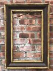 's Antique Gold Gilt Banded Ogee Picture Frame. Mahogany Veneered