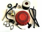 Carburetor Recoil Ignition Coil Spark Plug Air Filter Gas Cap Tune up Kit for