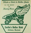 1930's-50's Carlin's Rink Baltimore, MD Roller Skating Luggage Label B2