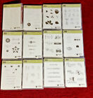 Stampin Up Rubber Stamp Sets NEW in Case Directions Unmounted Stamps