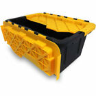 Set of 6 Flip Top Heavy Duty Storage Totes Bin Plastic Stacking Hinged 15 Gallon