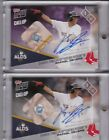 RAFAEL DEVERS 2017 Topps Now x 2 Game Used Base RC Autograph 721A 99