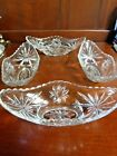 4 ANCHOR HOCKING STAR OF DAVID BANANA BOATS EAPG BANANA SPLIT ICE CREAM DISHES
