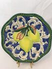 """Fitz and Floyd Classics Florentine Fruit Lemons Wall Hanging Plate Plaque 9"""""""