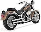 Vance  Hines Exhaust Chrome Straightshots HS Slip Ons Harley Softail 16827