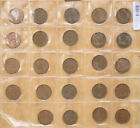 New Zealand _Half Penny 24 coins 1940 to 1965 collection set