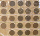 New Zealand _ONE Penny 24 coins 1940 to 1964 collection set