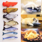 New Pet Cat Kitten Chewing Fish Stuffed Mint Catnip Simulation Playing Plush Toy
