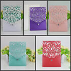 10 Custom Personalized Printing Wedding Invitation Cards with Envelopes Seals