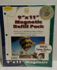 Magnetic Refill Pages 9x11 Self Adhesive 10 Sheets Photos W caption stickers NIP