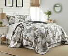 Tahiti by Chezmoi Collection 2 Piece Tropical Foliage Vintage Washed 100 Cotton
