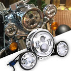 7 Led Projector Headlight + Passing Lights For Harley Touring