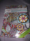 BRAND NEW Color Full Patterns  Motifs Adult Coloring Book Easy Tear Out Pages