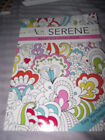 BRAND NEW Color Me Serene Adult Coloring Book Easy Tear Out Pages Paperback