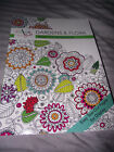 BRAND NEW Color Full Gardens  Flora Adult Coloring Book Easy Tear Out Pages